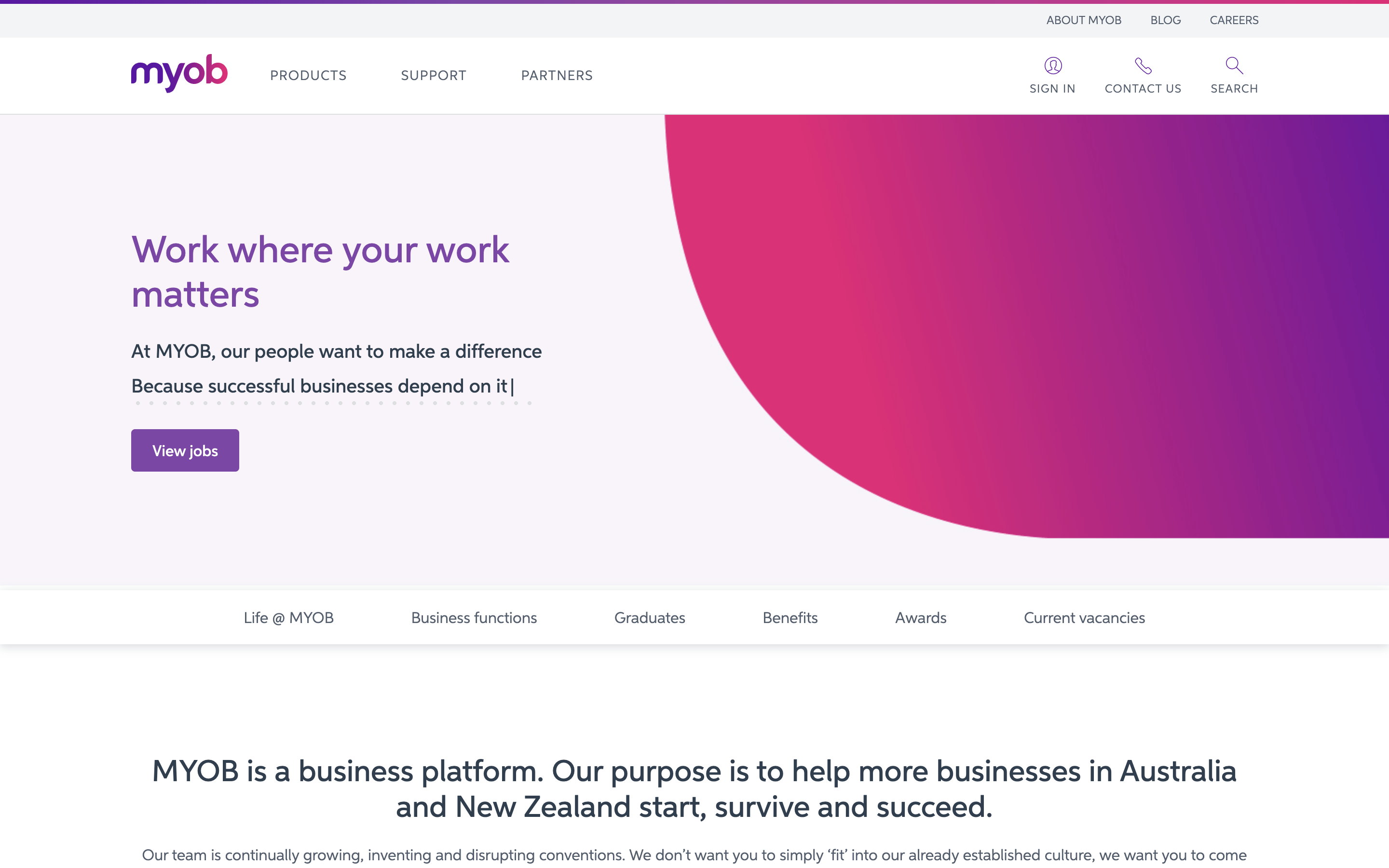 MYOB Careers Page 2021-01 Preview